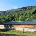 Le toit de la bergerie avant l'installation des panneaux solaires